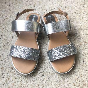 WILD DIVA glitter sandals